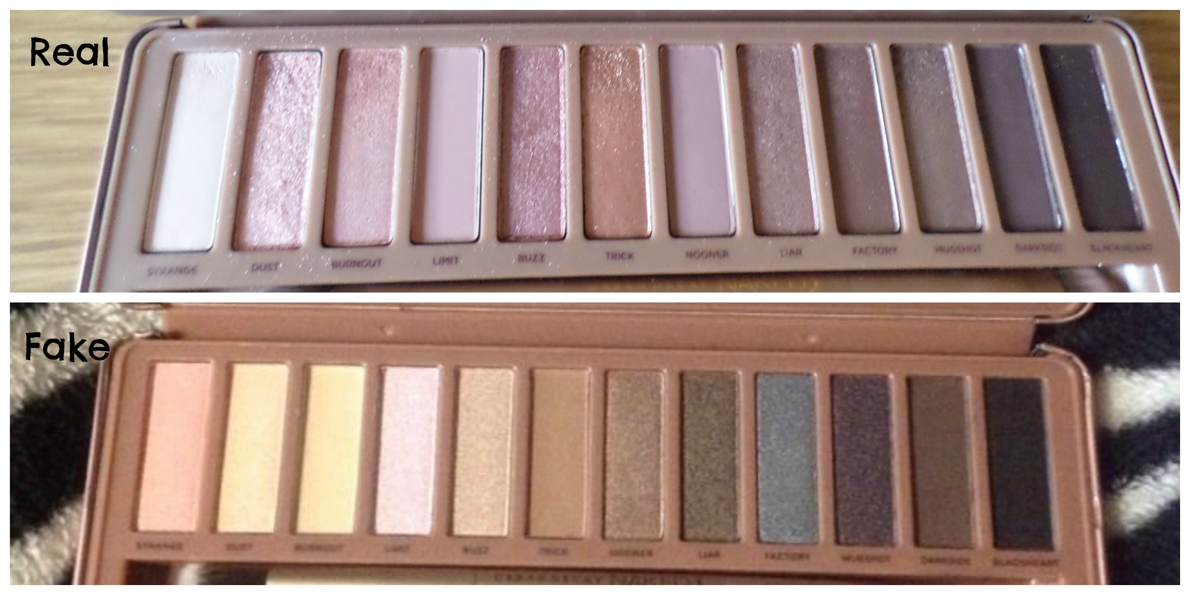 how to spot a counterfeit urban decay naked 3 palette. Black Bedroom Furniture Sets. Home Design Ideas