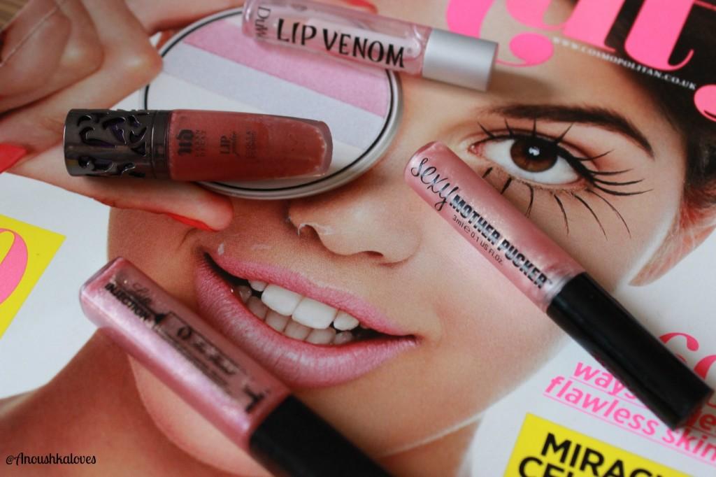 Lip plumping glosses