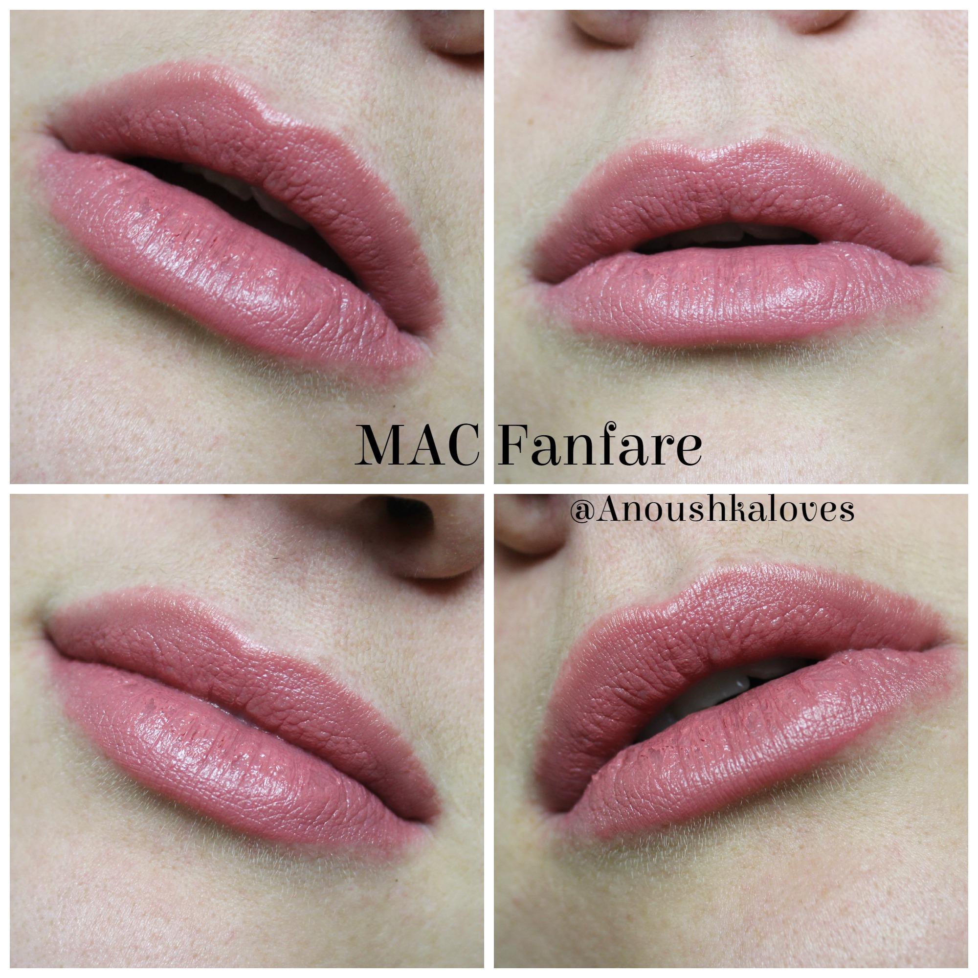 MAC Lipstick in Fanfare - Anoushka Loves