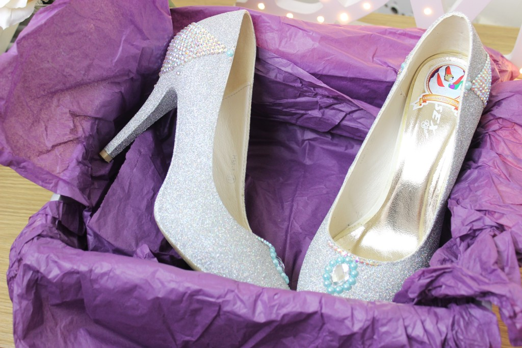 Customised Blong Things Cinderella Inspired Glass Slippers Custom made