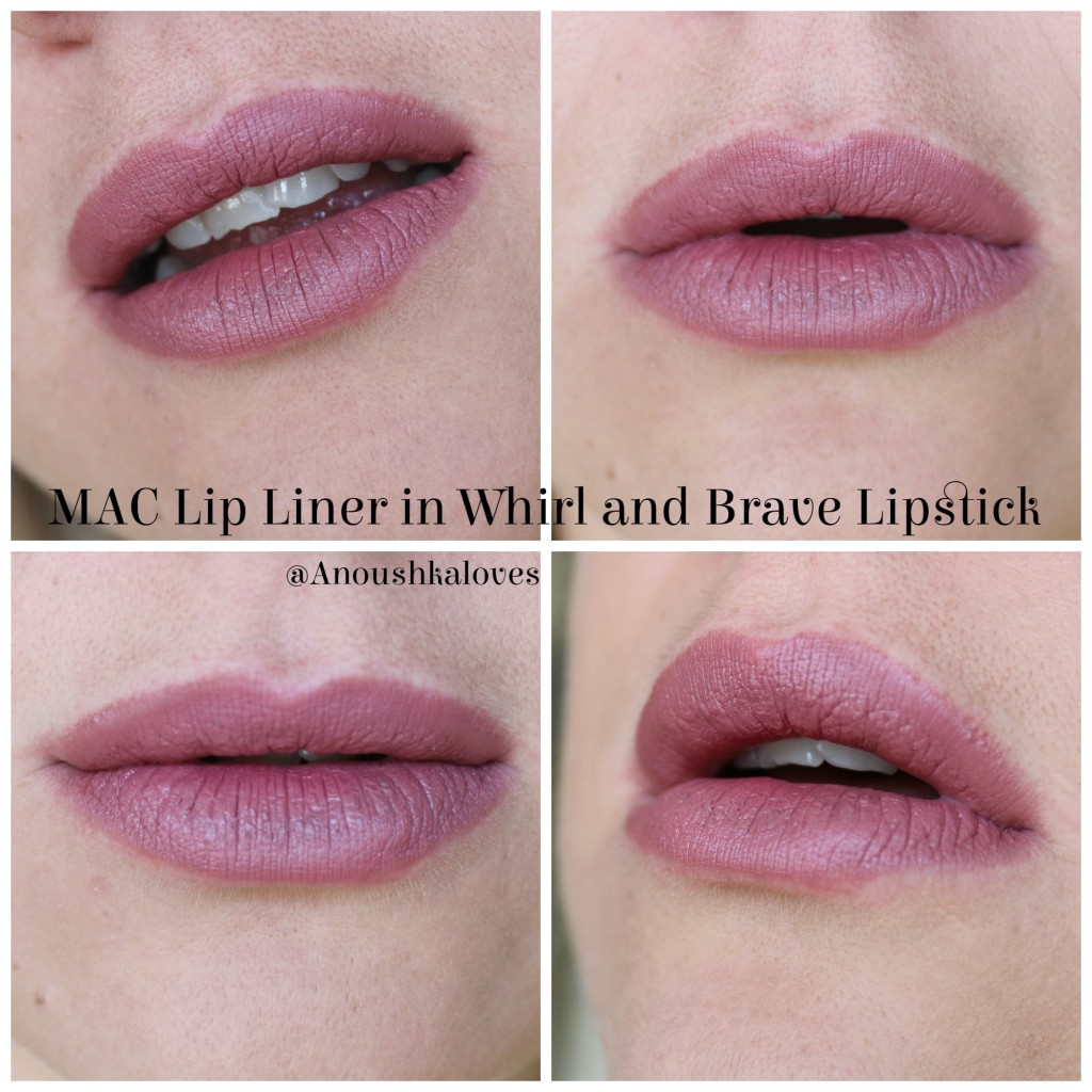 Lip Combos - MAC Whirl and Brave