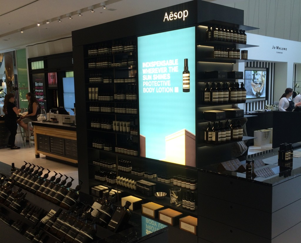 Aesop counter Selfridges Exchange Square Manchester