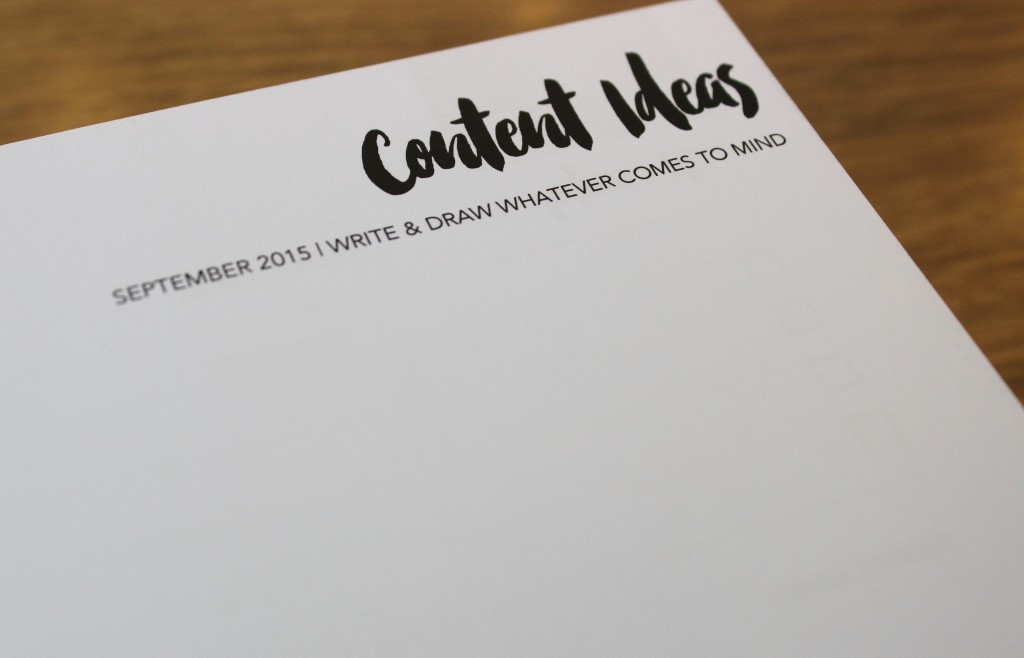 The Bloggers Planner