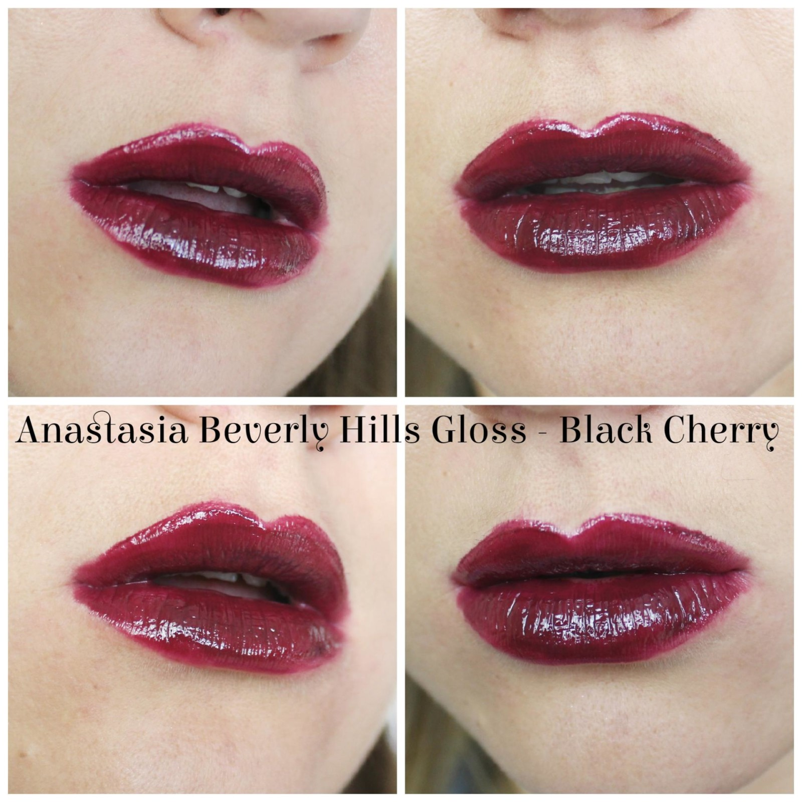 Anastasia Beverly Hills Lustrous Lip Gloss Set Black Cherry