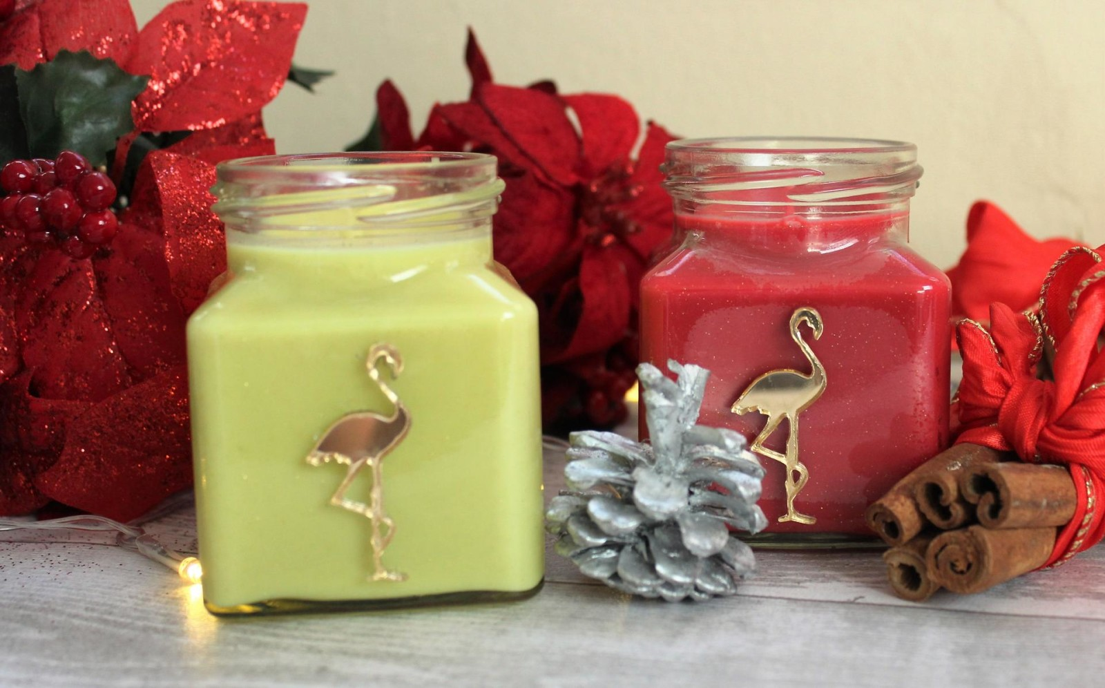 Flamingo Candles Mulled Wine and Berries Cinnamon Stick
