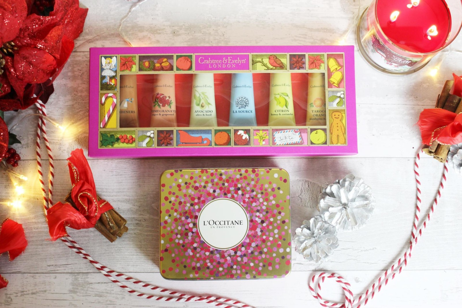 Crabtree & Evelyn Hand cream set L'Occitane Lip balm trio