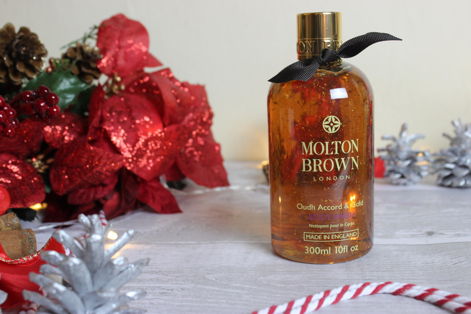 Molton Brown Oudh Accord and Gold bath and shower gel