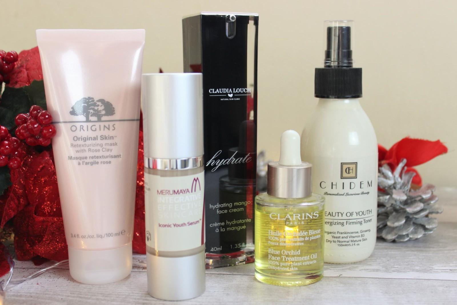 Winter Skincare Saviours Chidem, Origins, Merumaya, Claudia Loche, Clarins
