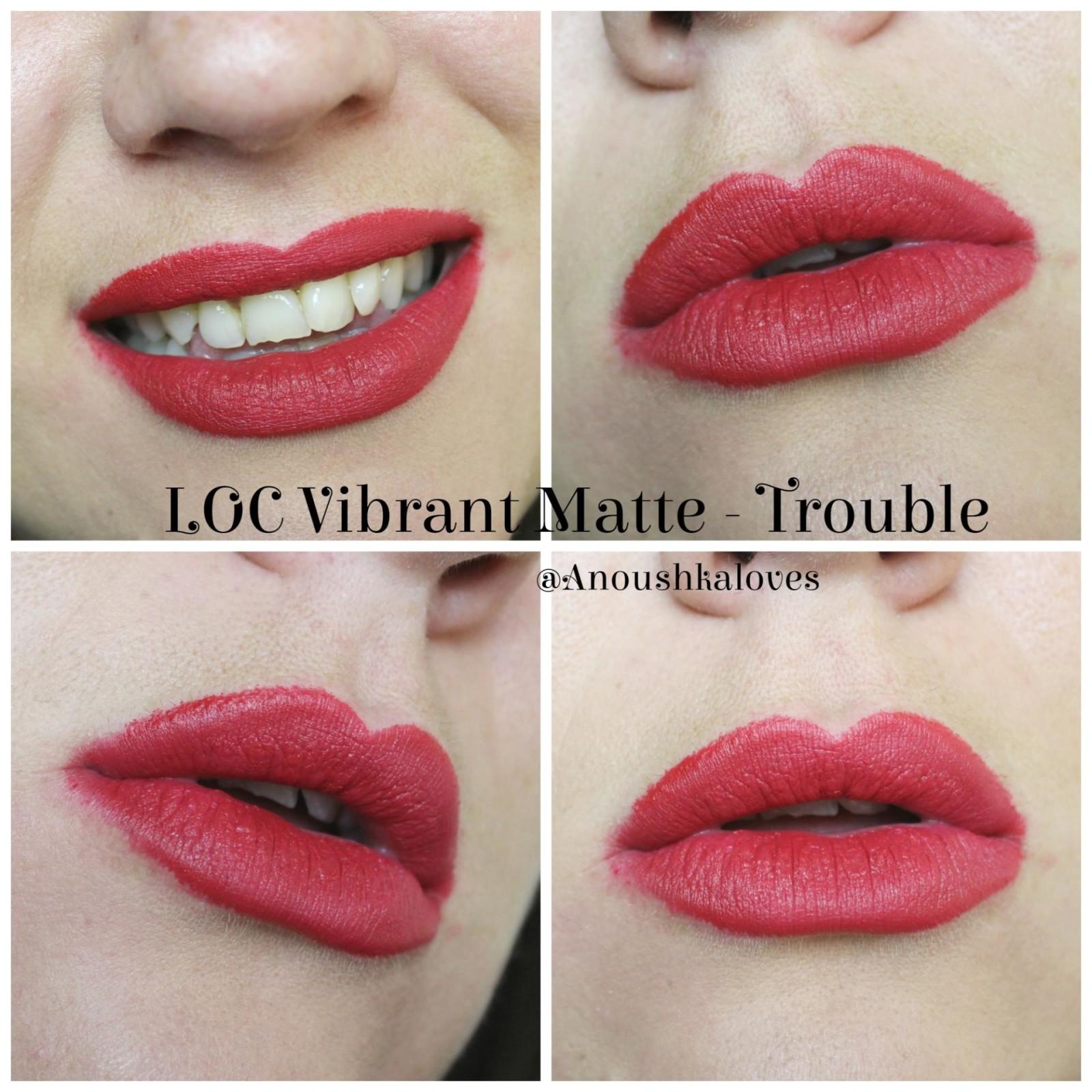 LOC by Birchbox Vibrant Matte Lipsticks Trouble