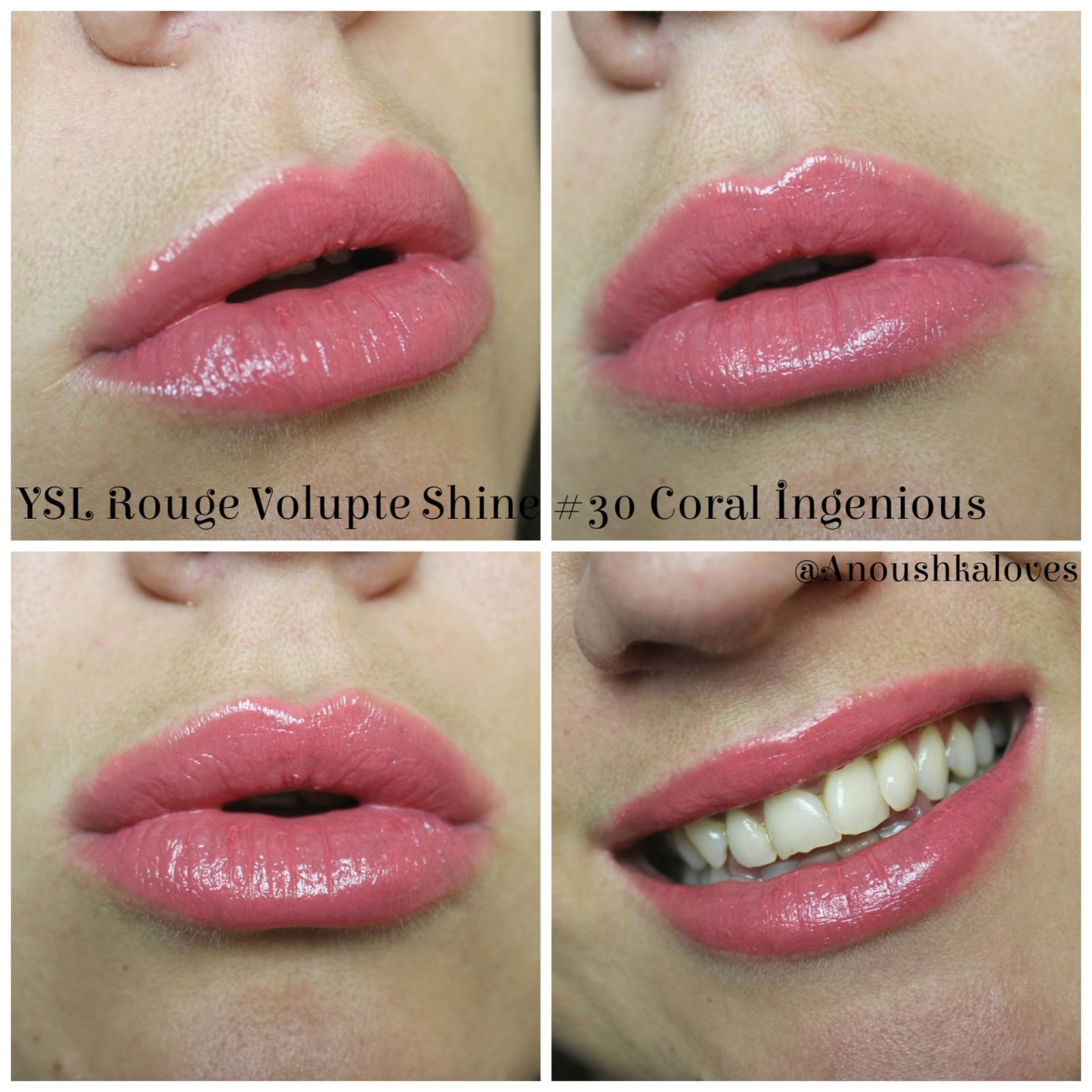 YSL Rouge Volupte Shine 30 Coral Ingenious