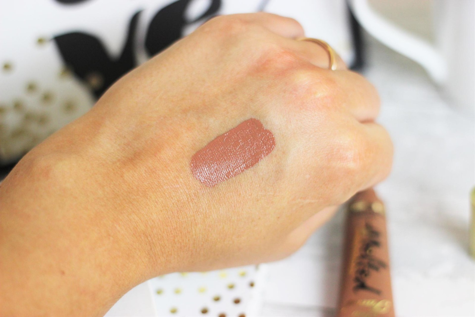 Too Faced Melted Lipstick in Chocolate Honey