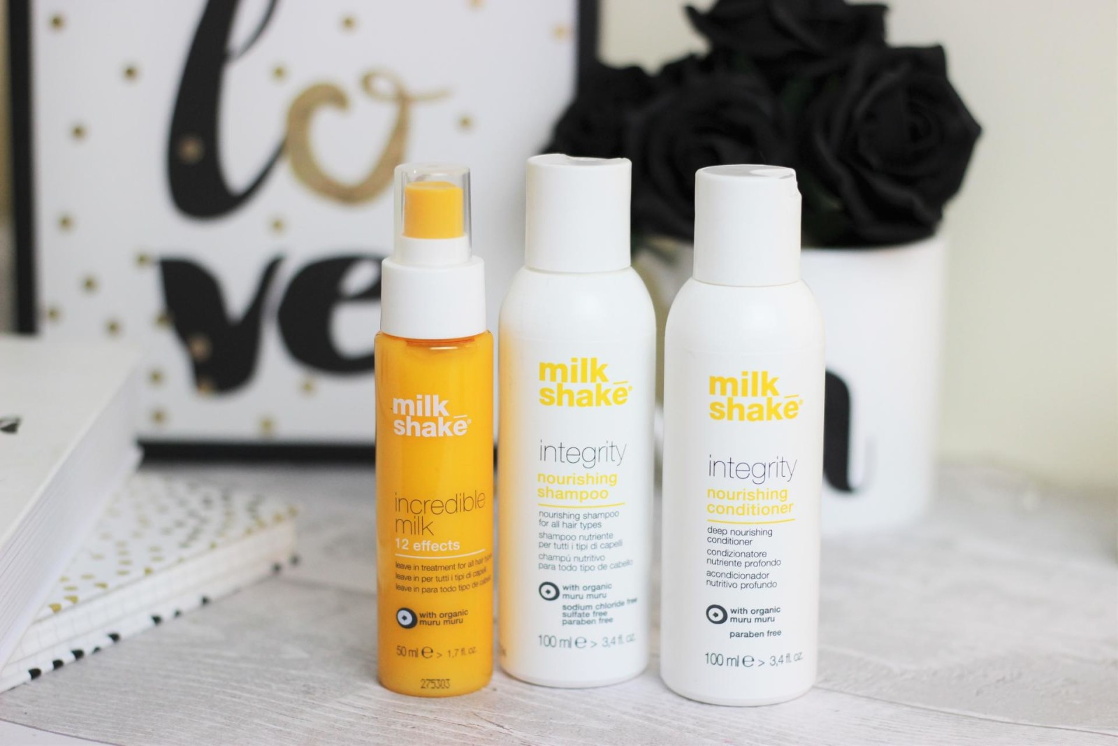 The Weekend Away Toiletry Bag milkshake integrity hair care