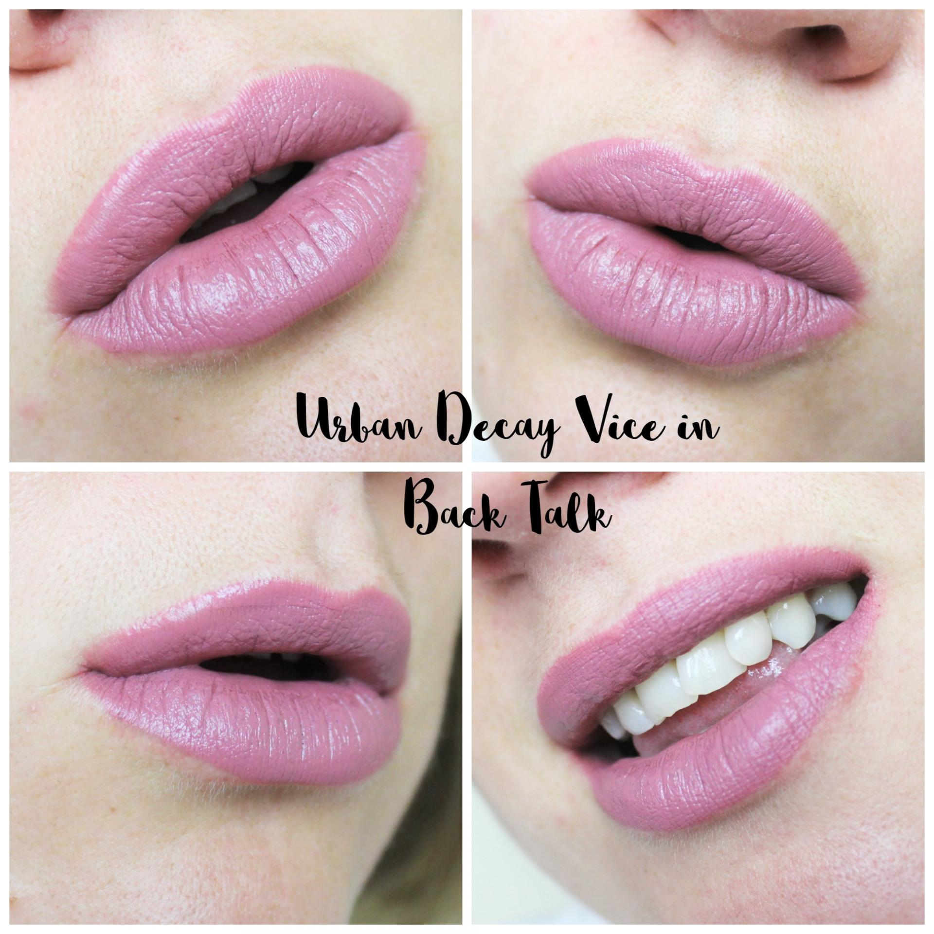 Urban Decay Vice Lipsticks Back Talk