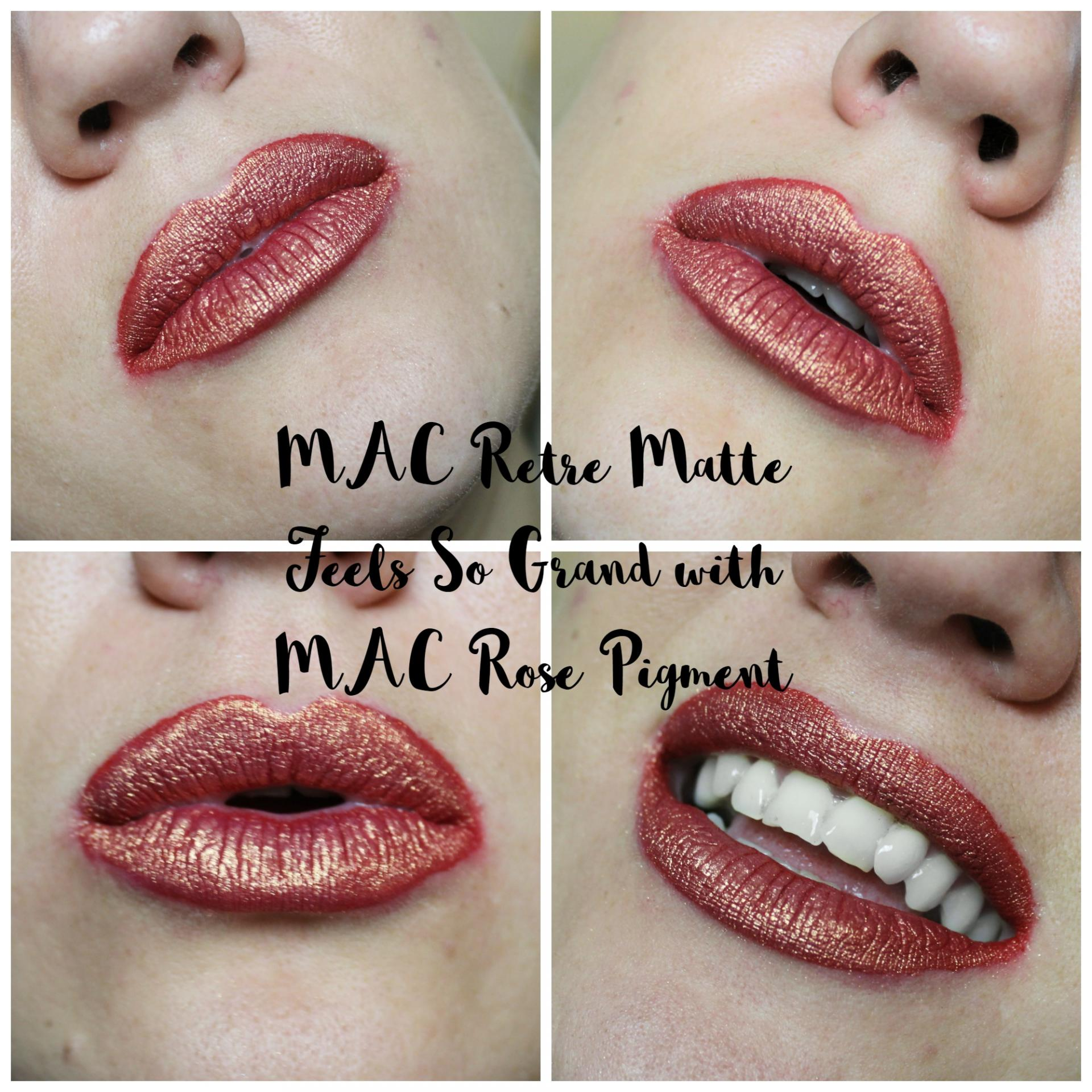 The Festive Red Lip MAC REtro Matte Feels So Grand Rose Pigment
