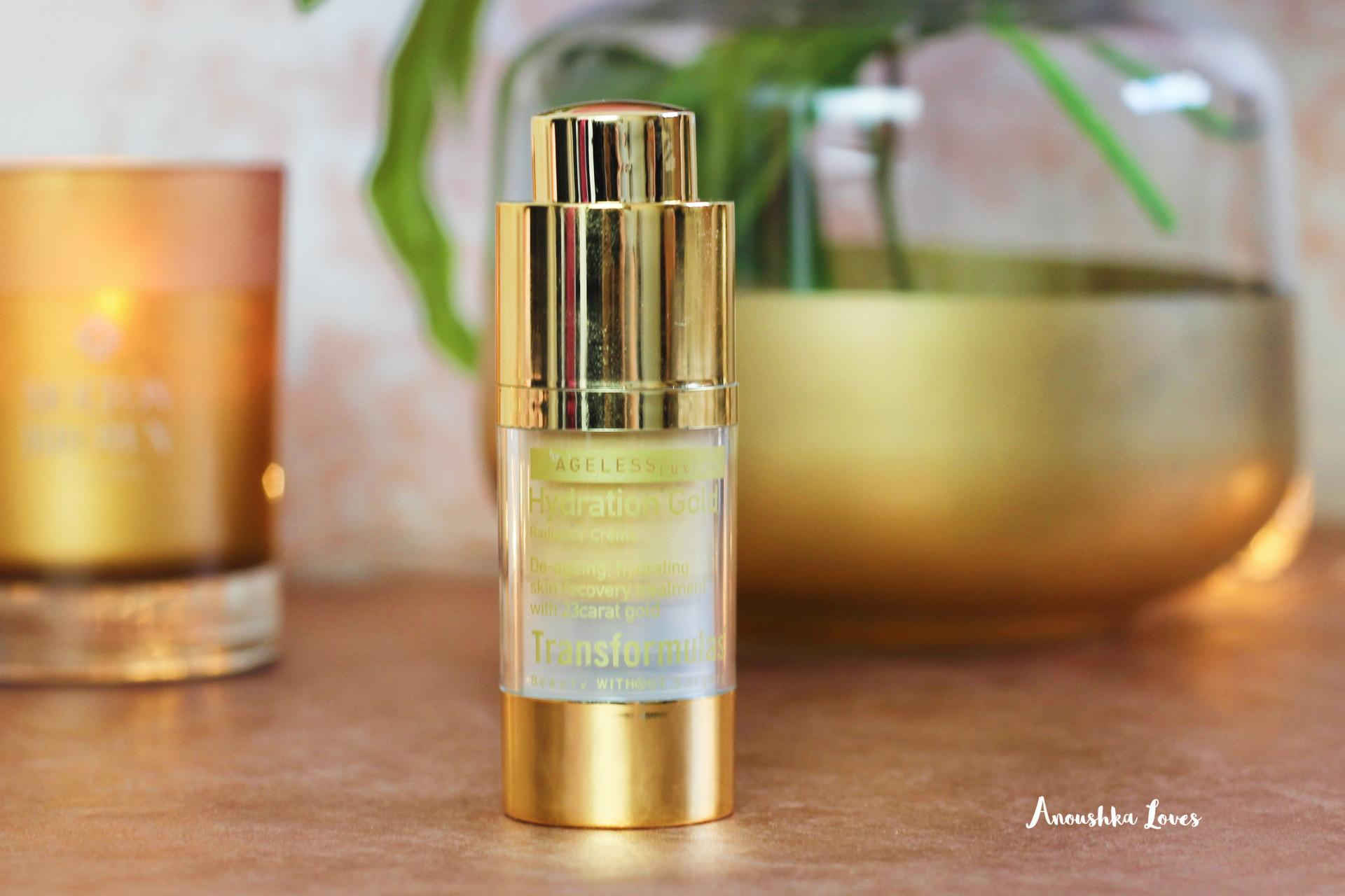 On the Bathroom Shelf - Summer Skincare Transformulas Hydration Gold