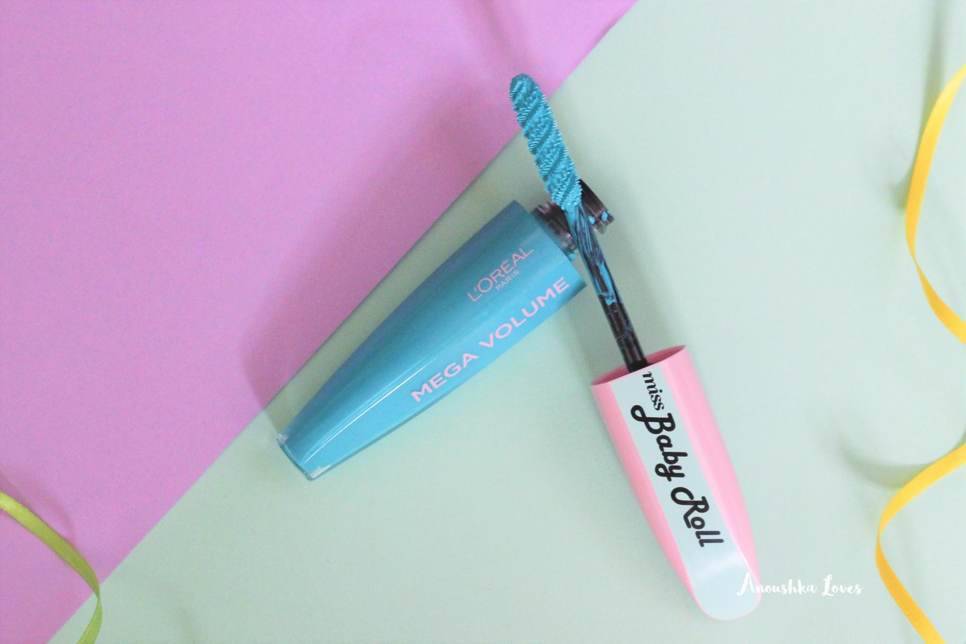 For the Love of Colour - Coloured Mascaras L'Oreal Miss Baby Roll Teal Mascara