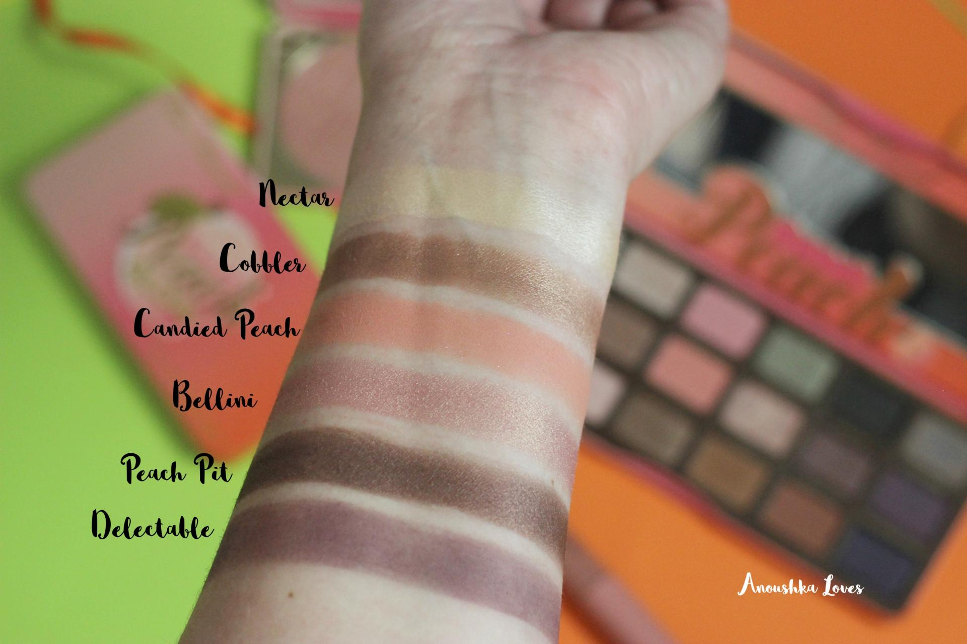 The Ultimate Too Faced Sweet Peach Collection Guide Sweet Peach Palette swatches review
