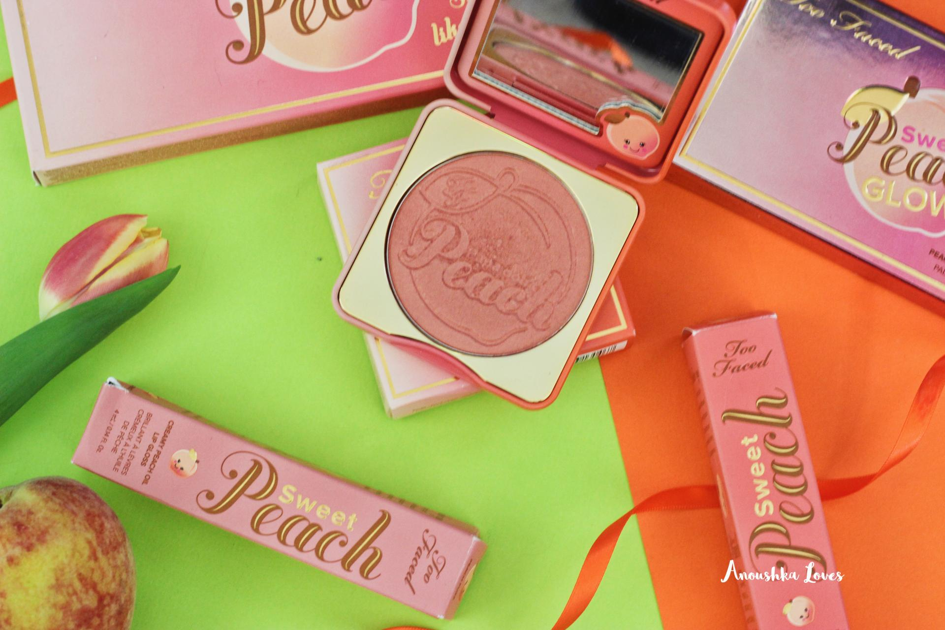 The Ultimate Too Faced Sweet Peach Collection Guide  Sweet Peach Papa don't Peach Blush