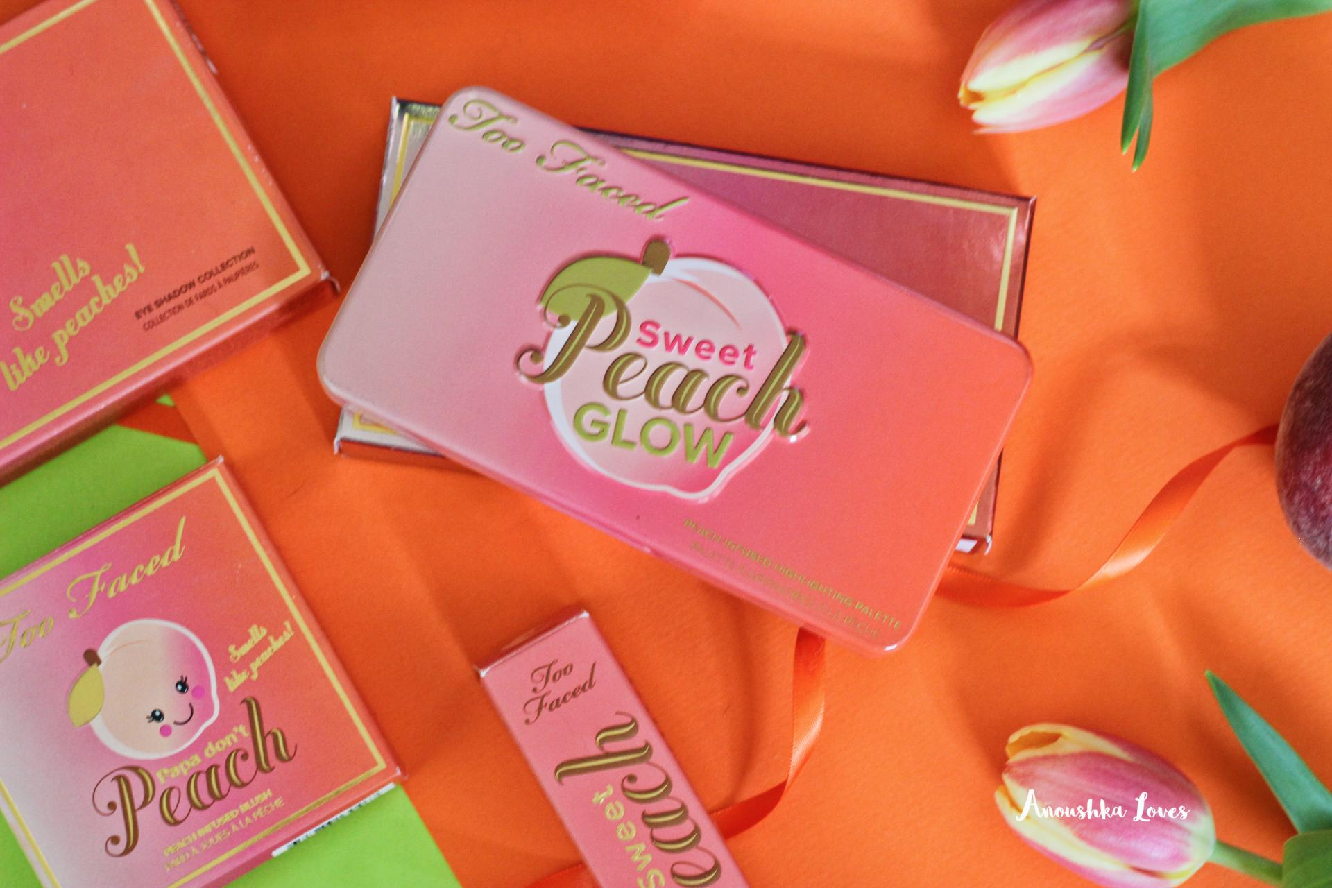 The Ultimate Too Faced Sweet Peach Collection Guide  Sweet Peach Glow Palette