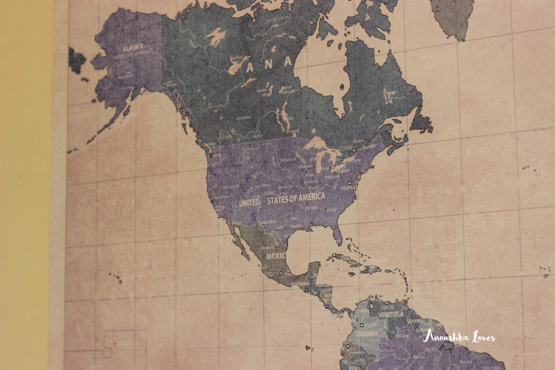 Hello Canvas Vintage World Map