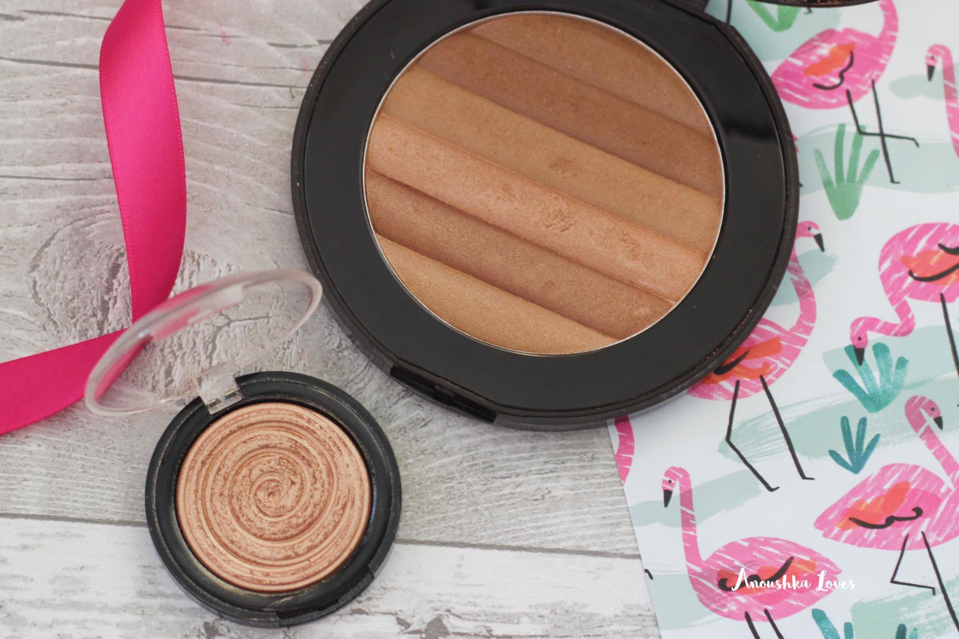 The Holiday Makeup Bag Part One Pur Ultra Jumbo Bronzer Laura Geller Gelato Ballerina Highlighter