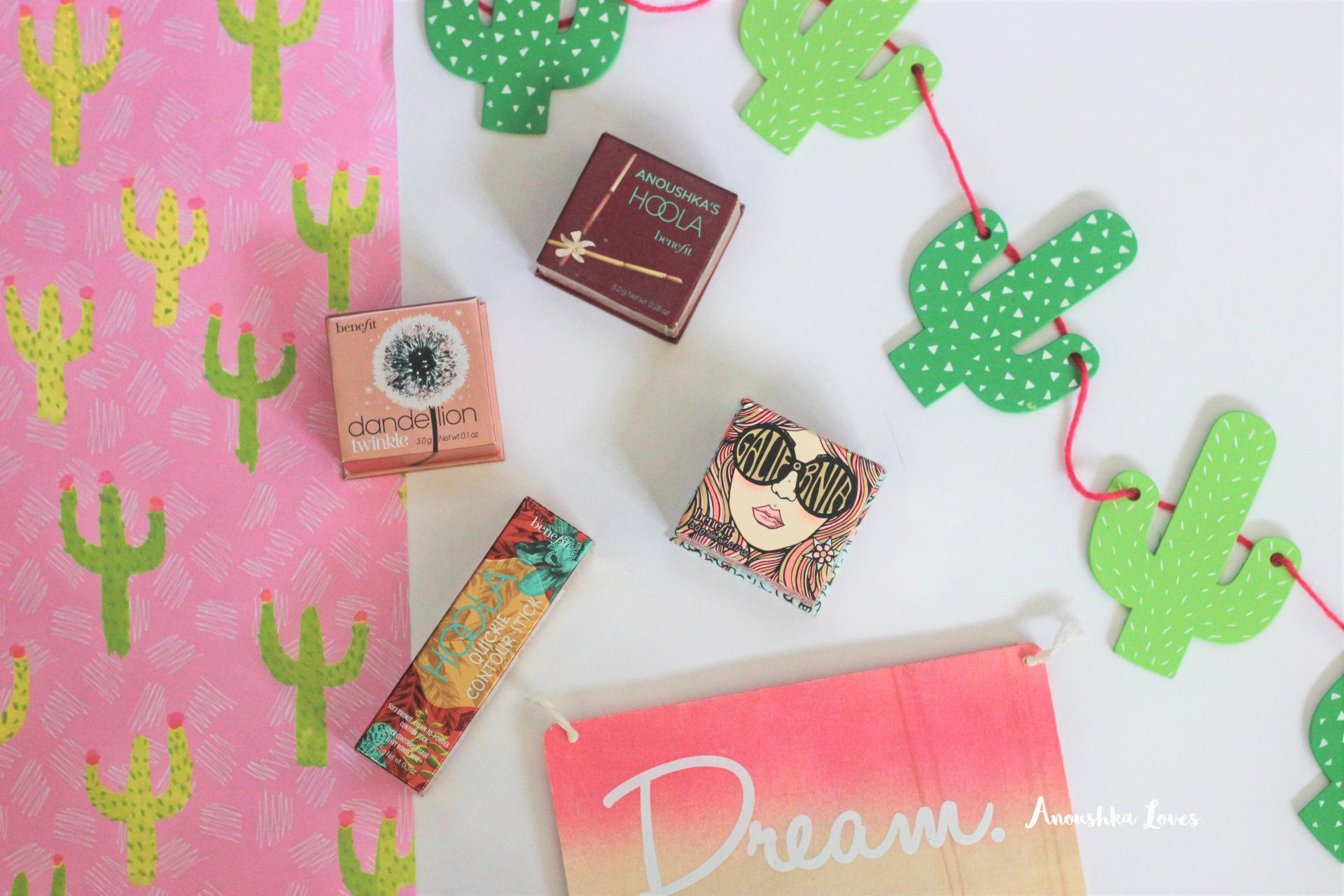 The Summer Face with Benefit Cosmetics Hoola Dandelion Twinkle Galifornia