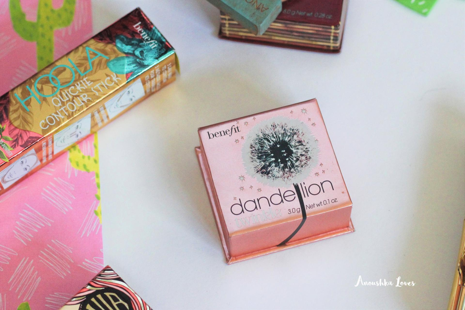 The Summer Face with Benefit Cosmetics Dandelion Twinkle Highlighter Powder
