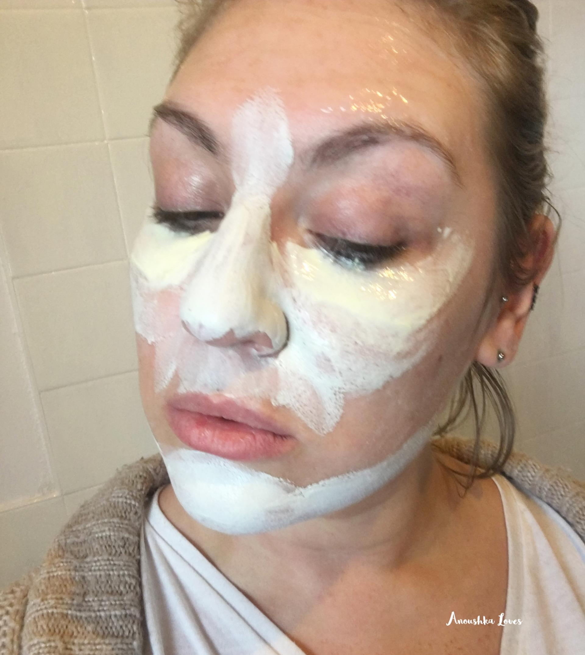 Multimasking with Kiehls Face Masks rare earth deep pore cleansing ultra facial overnight hydrating