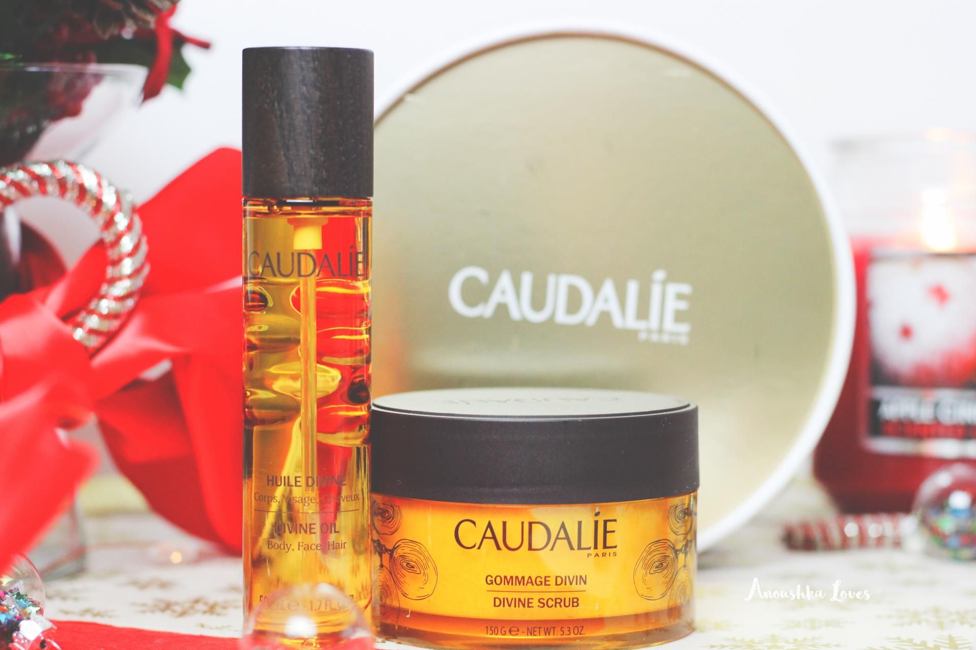 Caudalie at Christmas Divine Scrub Divine OIl