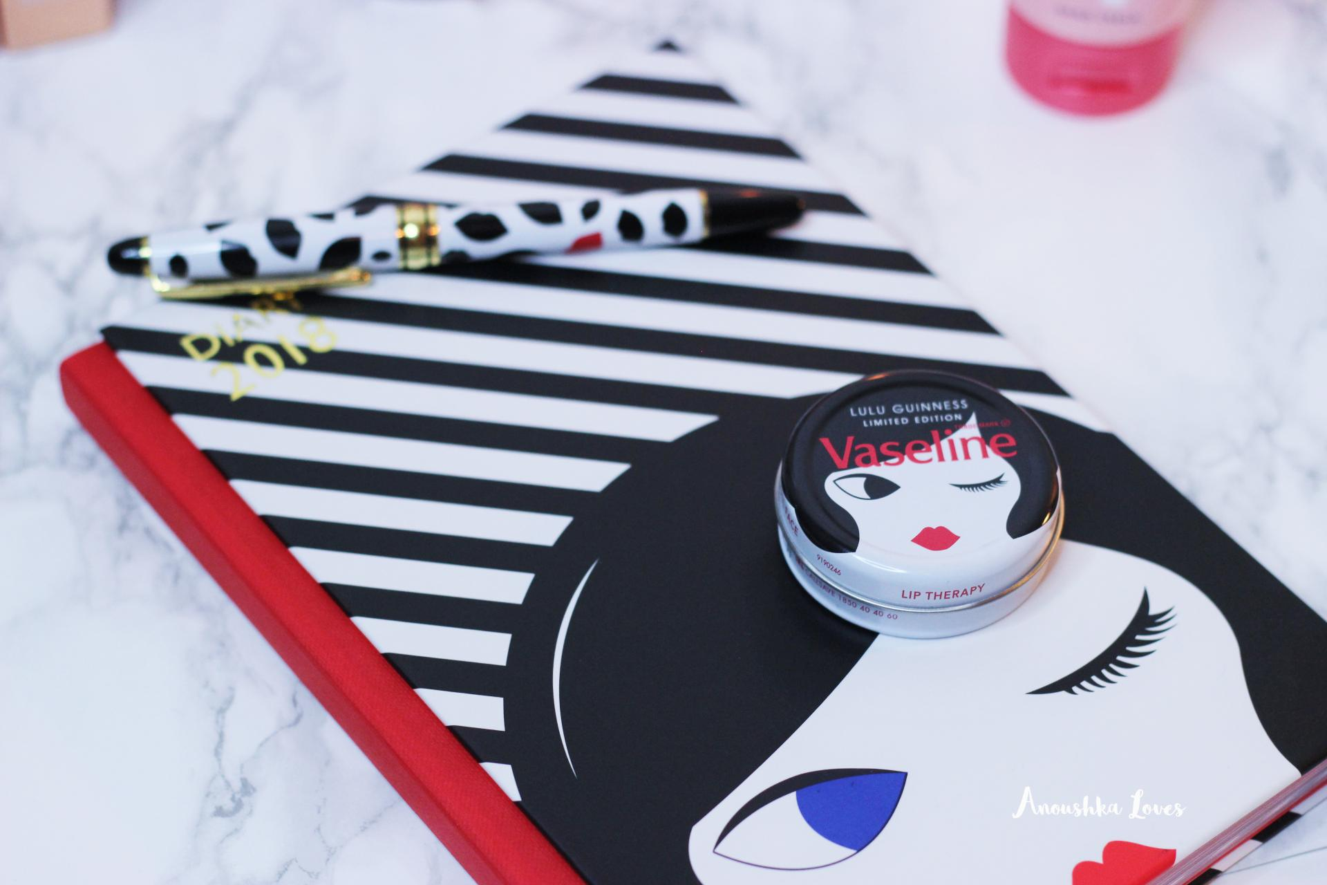 Lulu Guiness vaseline stationery diary ballpoint pen