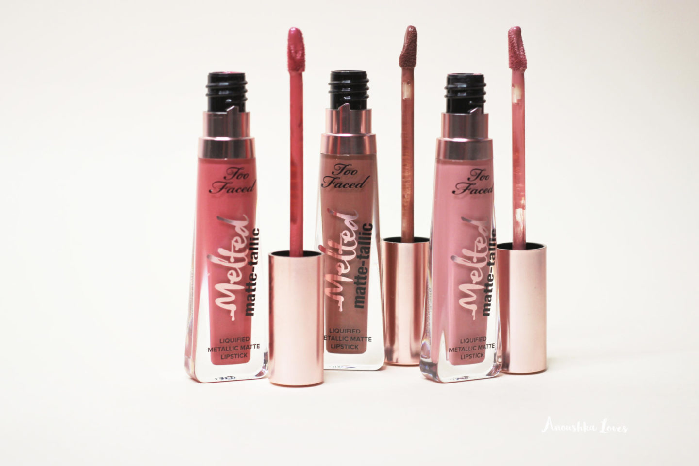 Too Faced Melted Matte-Tallics Liquid Lipsticks
